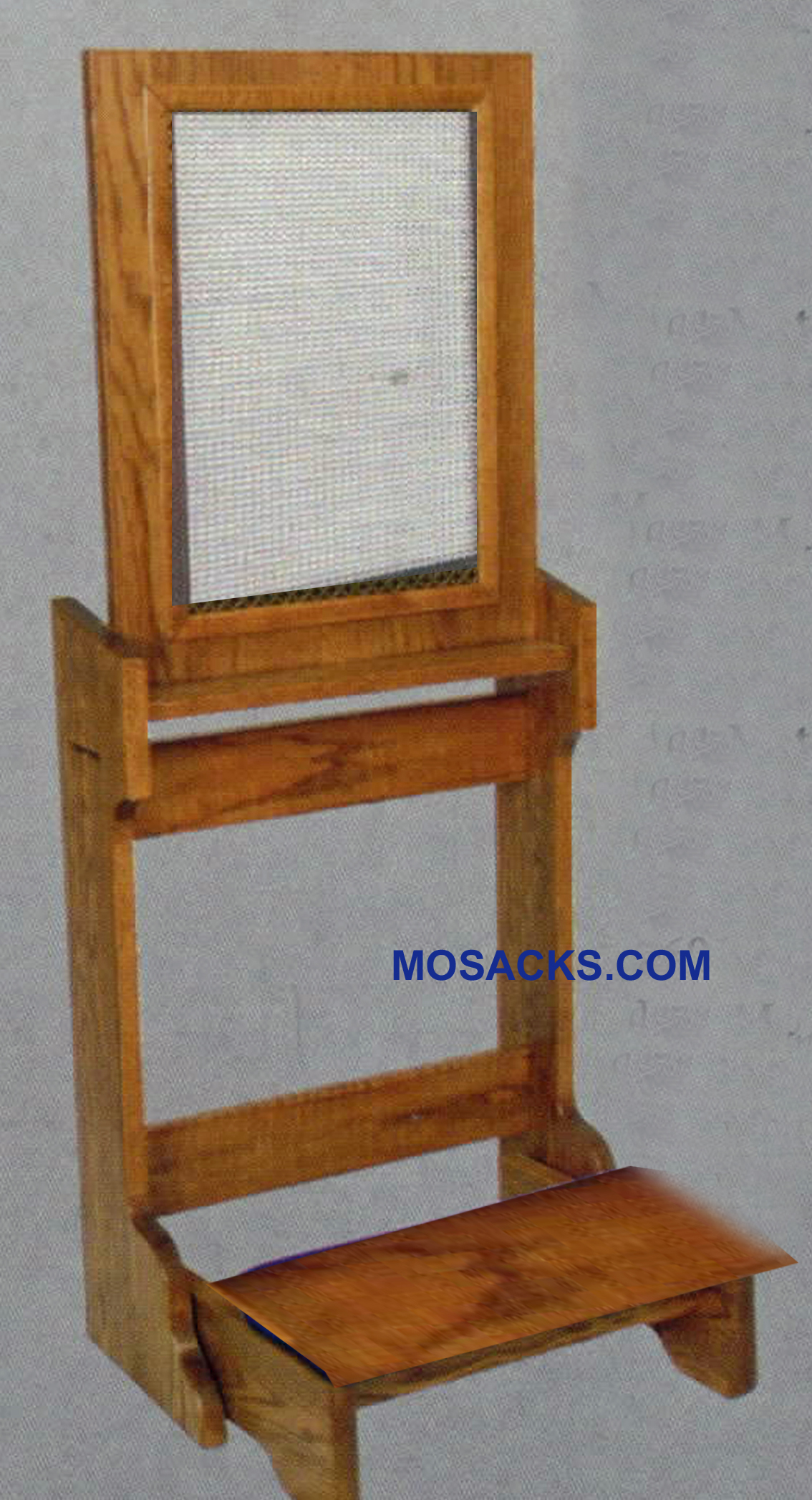 "Confessional Prie Dieu w/ stationary kneeler and screen 22""w x 21"" d 2450"