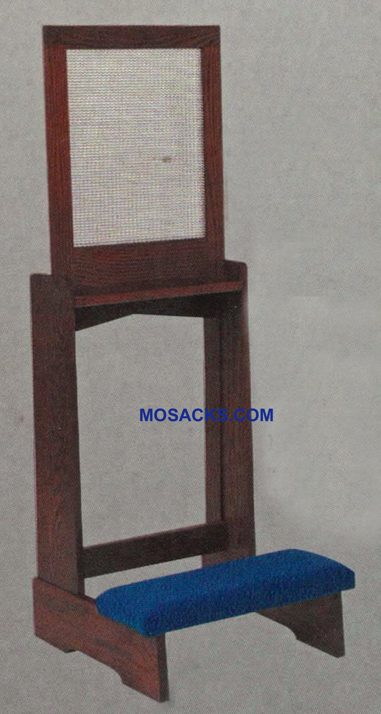 "Confessional Prie Dieu w/padded kneeler & mesh screen 22""w x 21""d 52"" h 44"