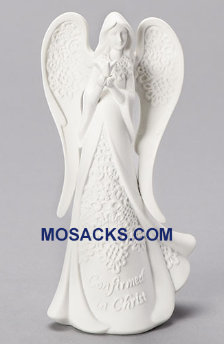 "Confirmation Angel Figure White Porcelain 8"" h 43136 RETIRED"