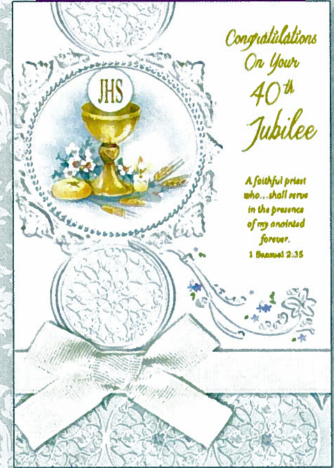 Congratulations On Your 40th Jubilee Greeting Card JUBF87601