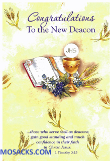 Congratulations To The New Deacon Greeting Card- DEAC89415
