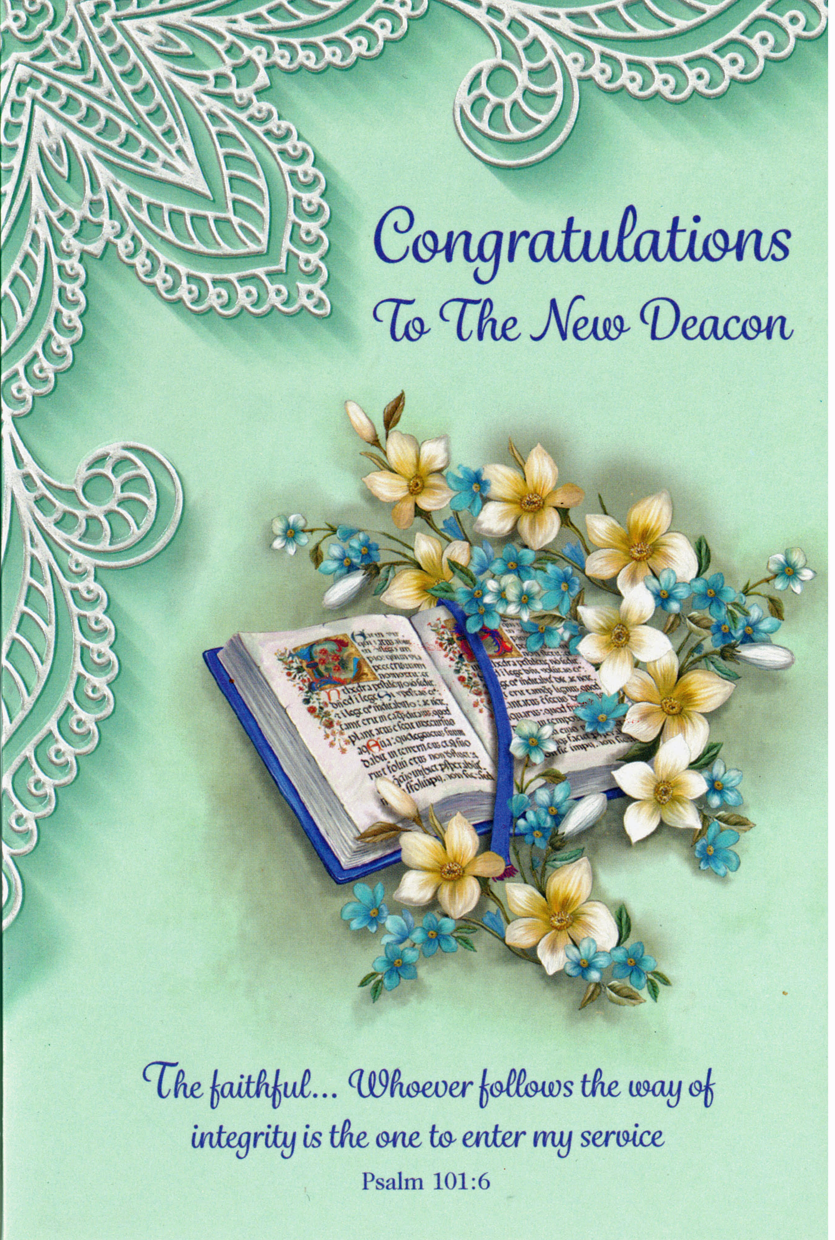 Congratulations To The New Deacon Greeting Card- DEAC89986