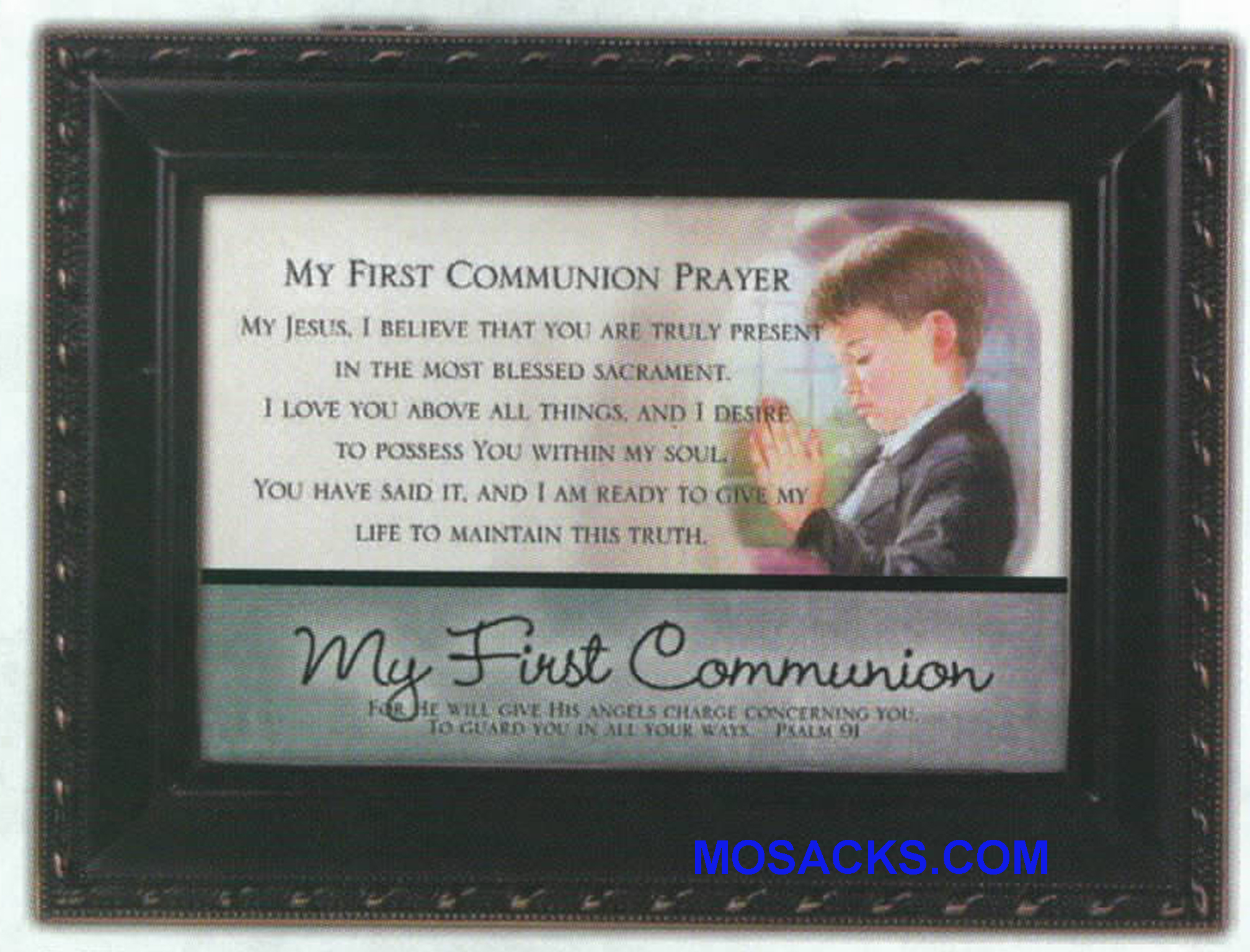 Cottage Garden Communion Boy Music Box MB1815SDB