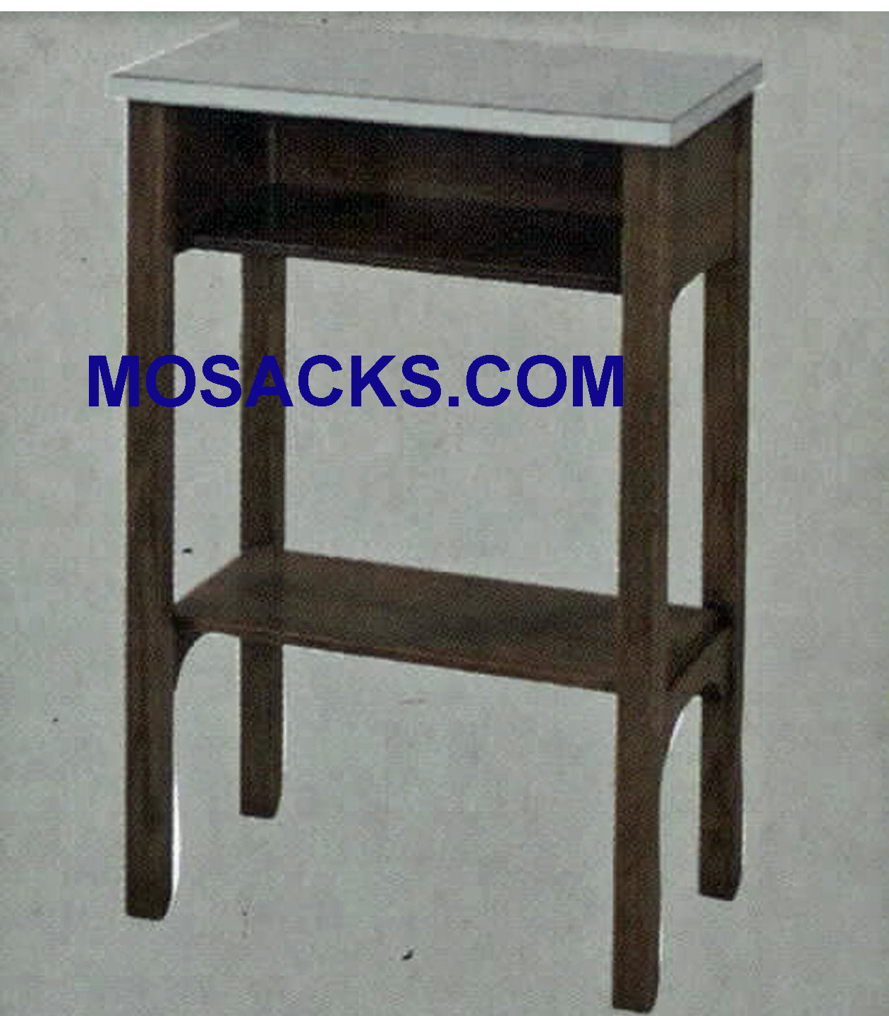 "Credence Table w/shelf and laminate top 20"" w x 13""d 30"" h 341"