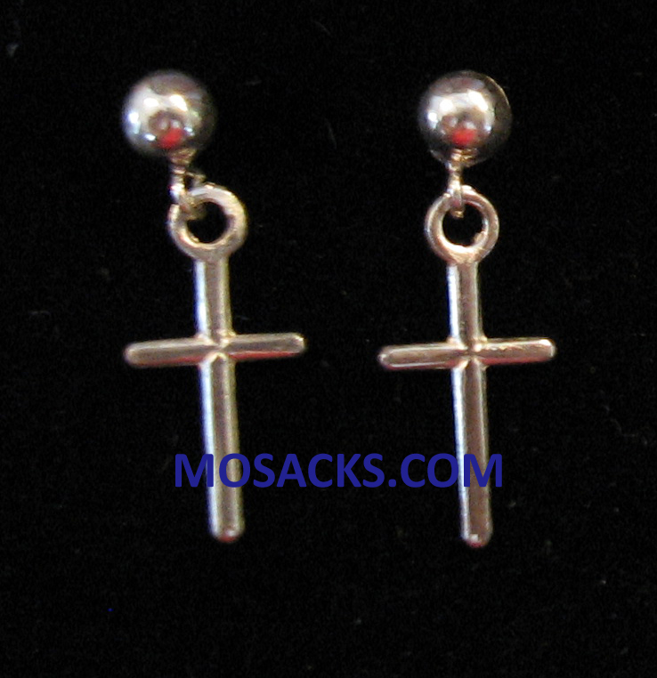 Cross Sterling Silver Earrings SSE7