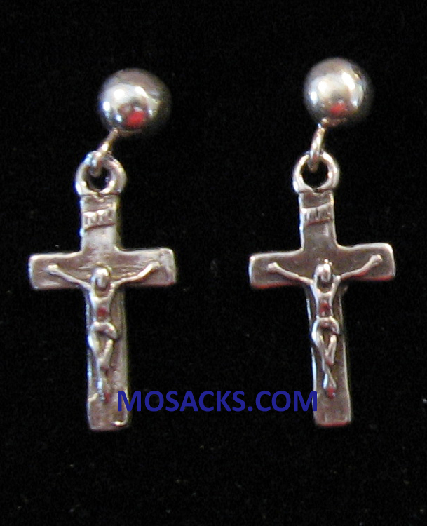 Crucifix Sterling Silver Earrings SSE27