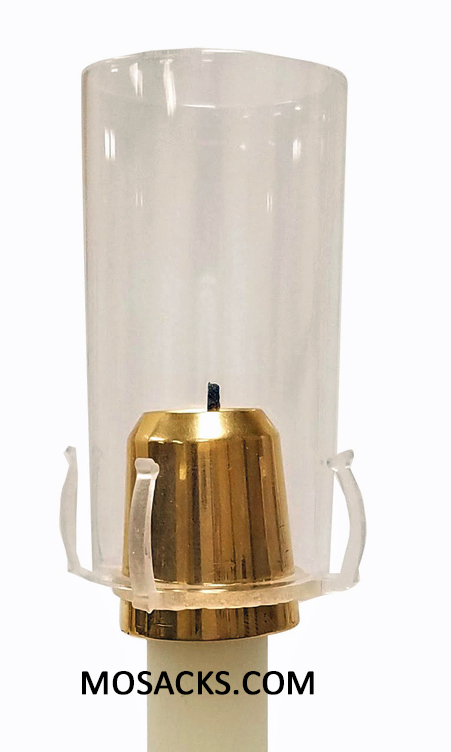 "Economy Universal Brass Draft Resistant Candle Burner fits 29/32"", 1"", 1-1/32"" candle diameter - 01802DR"