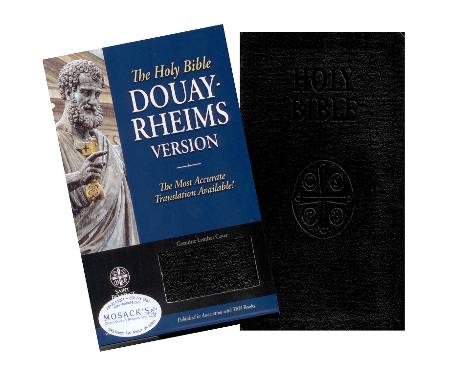 The Douay-Rheims Catholic Bible in Black Genuine Leather SB2032