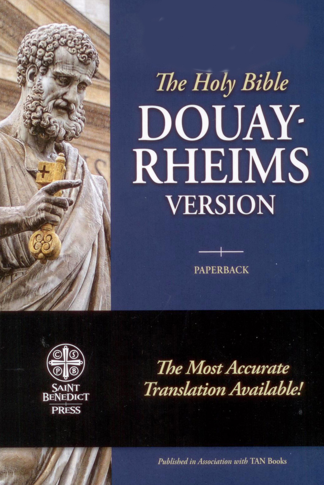 The Douay-Rheims Catholic Bible in Blue Paperback Cover SB2056