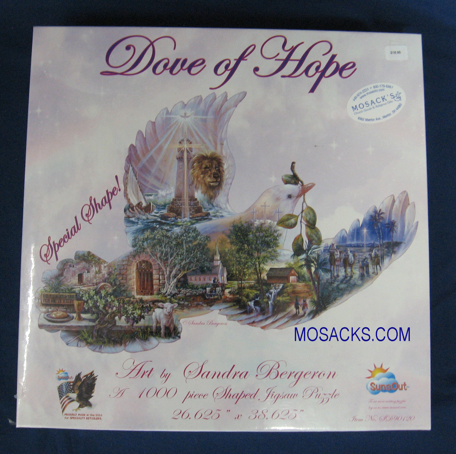 Dove Of Hope 1000 piece 26x38 Inch Shaped Puzzle SD90120