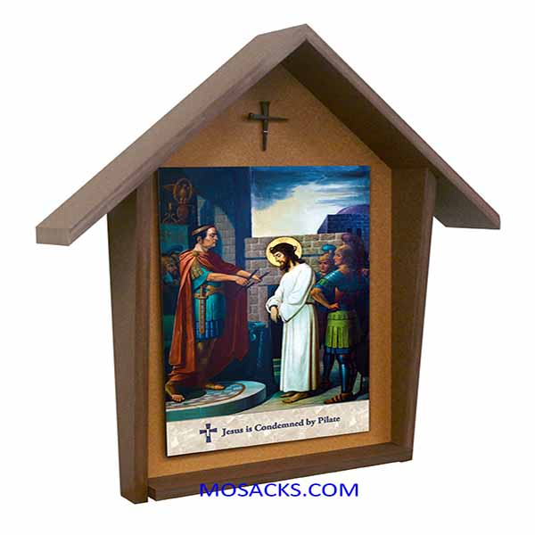 Emmerich Stations Of The Cross Poly Wood Deluxe Shrine Set of 14 Stations  FREE SHIPPING