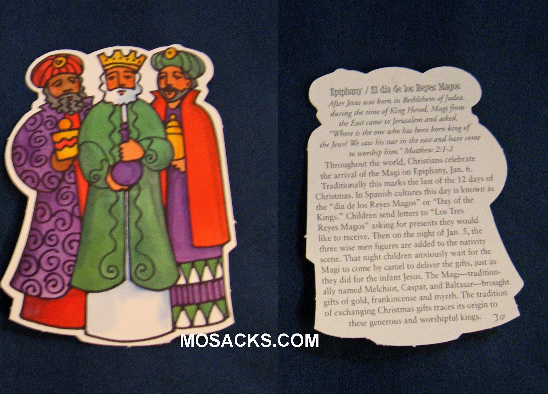Epiphany Three Kings Card with Jan 5th Day of the Kings custom -ETK