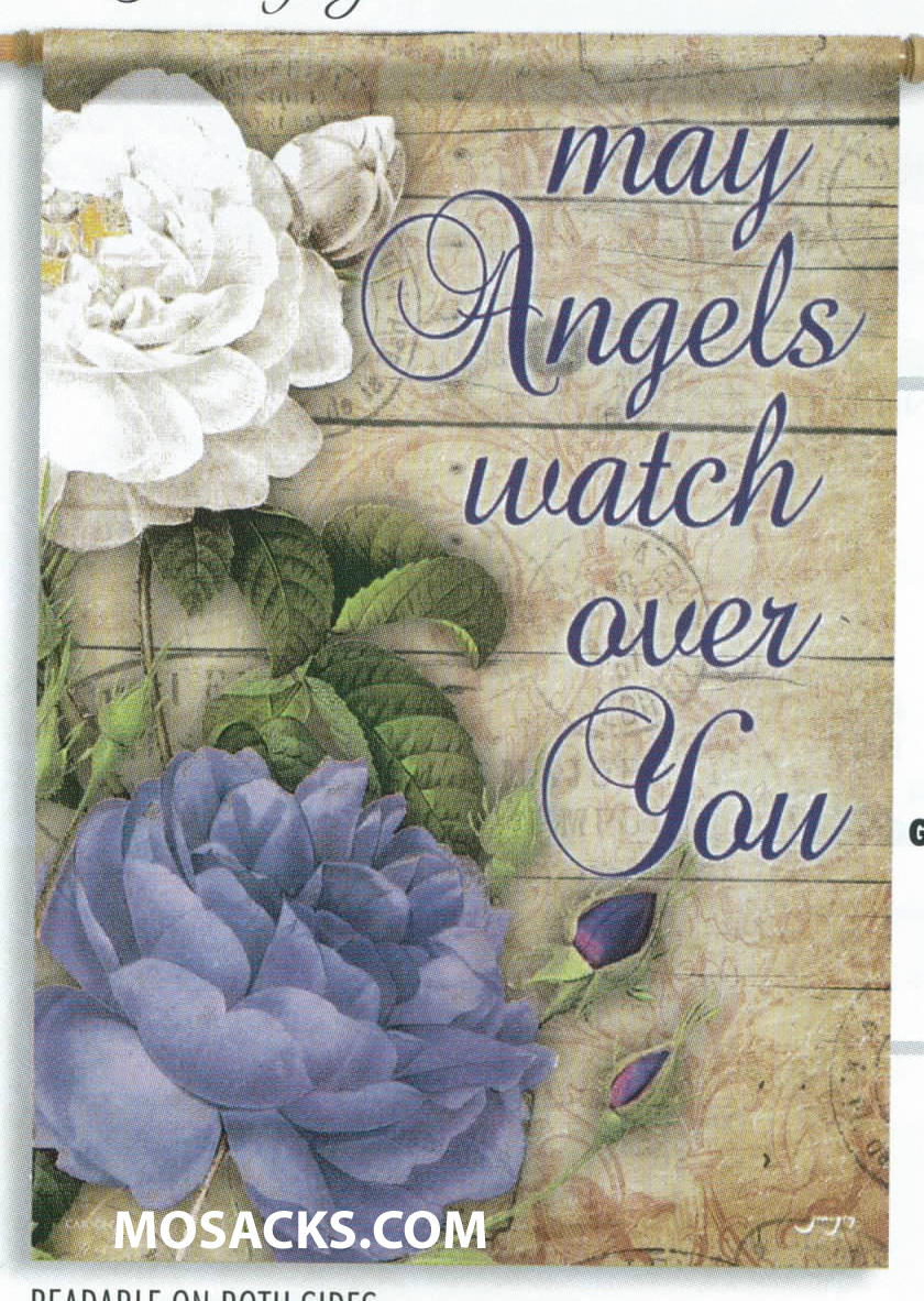 "Flagtrends Angels Watch Over You 13x18"" Double Sided Garden Flag 480-45878"