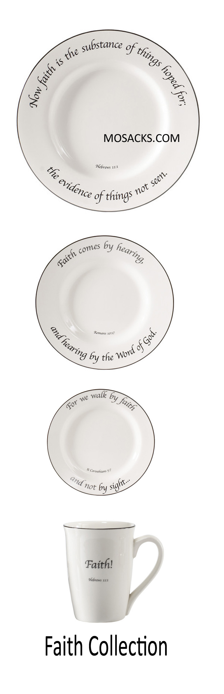 "Feed on the Word ""Faith"" Scripture Tableware 4-Piece Place Setting #5-100-P"