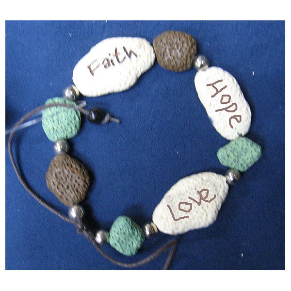 FaithStones Bracelet Faith Hope Love-65145