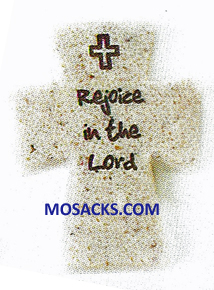 FaithStones Pocket Cross Rejoice In The Lord-601003
