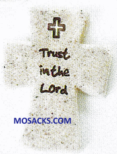FaithStones Pocket Cross Trust In The Lord-601003