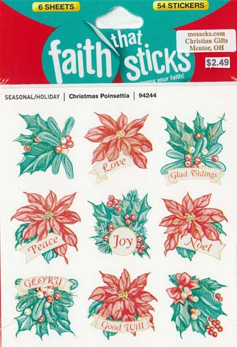 Faith That Sticks Christmas Poinsettia -94244