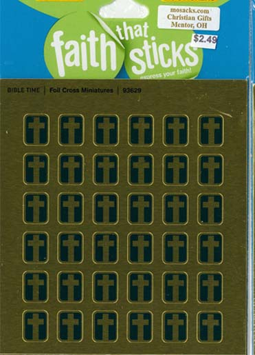 Faith That Sticks Foil Cross Miniatures-93629