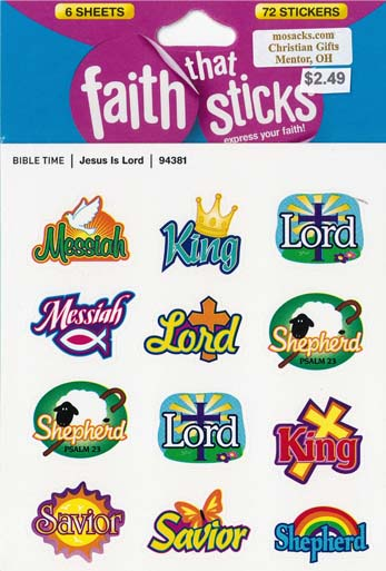 Faith That Sticks Jesus is Lord-94381 includes 6 sticker sheets