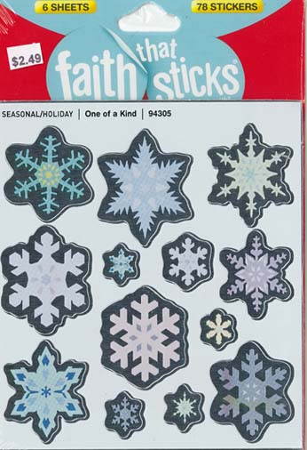 Faith That Sticks One of a Kind-94305 includes 6 sticker sheets