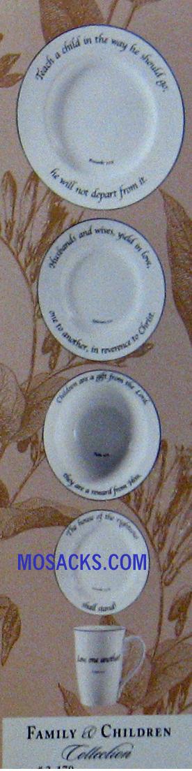 "Feed on the Word ""Family & Children"" 5-Pc Scripture Dinnerware #5-170"