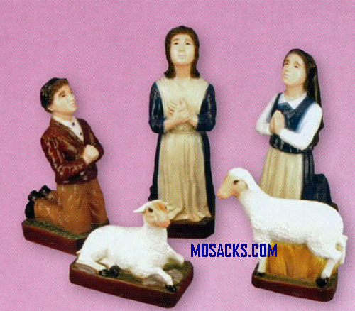 Fatima Children Lucia Francisco Jacinta And Sheep 5Pc Statue Set-SA2436C
