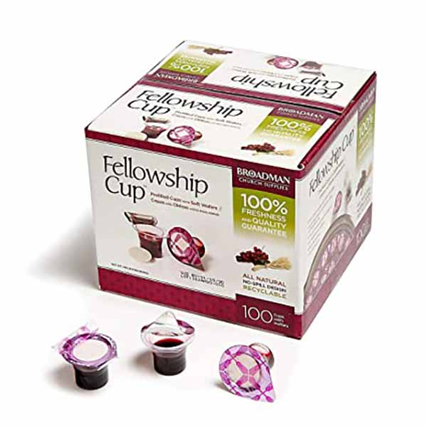 Fellowship Cup Prefilled Communion Cup 100 In Box 422-081407011585