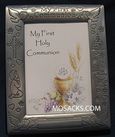 My First Communion Pewter Photo Album 13917