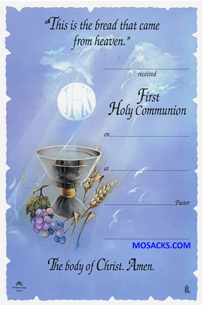 First Communion Certificate-95330