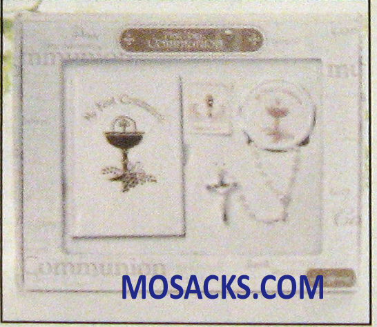 First Communion Girl Missal 5 Pc Set White -12269