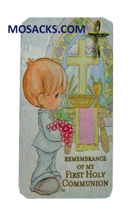First Communion PM Pin Prayer Card Boy - 62880B