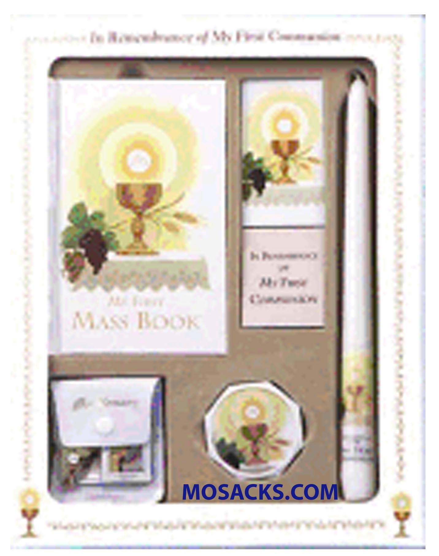 First Mass Book (My First Eucharist) Deluxe Set for girls 808/58G from Catholic Book Publishing 60-9780899428659