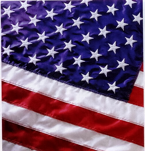 Flags U.S. Sewn Perma-Nyl 100% Nylon 2.5ft x4ft sst