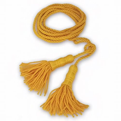 Golden Yellow indoor 9 ft. Cord with 5 in. Tassels  ACC2260