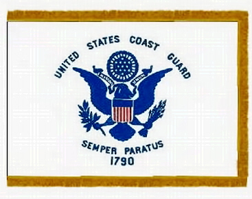 Flags Military Indoor Printed  Nylon Coast Guard 3ft x 5ft 35246940