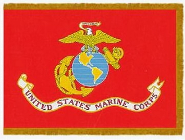 Flags Military Indoor Printed  Nylon Marine 4ft x 6ft 46246930