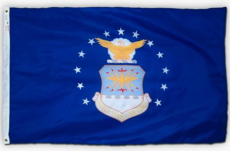 2' x 3' U. S. Air Force Printed Perma-Nyl Flag