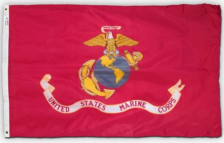 4' x 6' U. S. Marine Corps Printed Perma-Nyl Flag by Valley Forge Flag