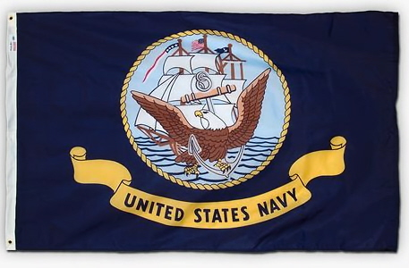 2' x 3' U. S. Navy Printed Perma-Nyl Flag by Valley Forge Flag
