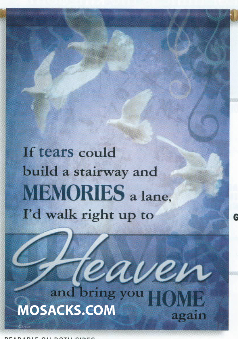 Flagtrends by Carson If Tears Could Build a Stairway Flag 13x18 Inch Double Sided Garden Memorial Flag 480-45142