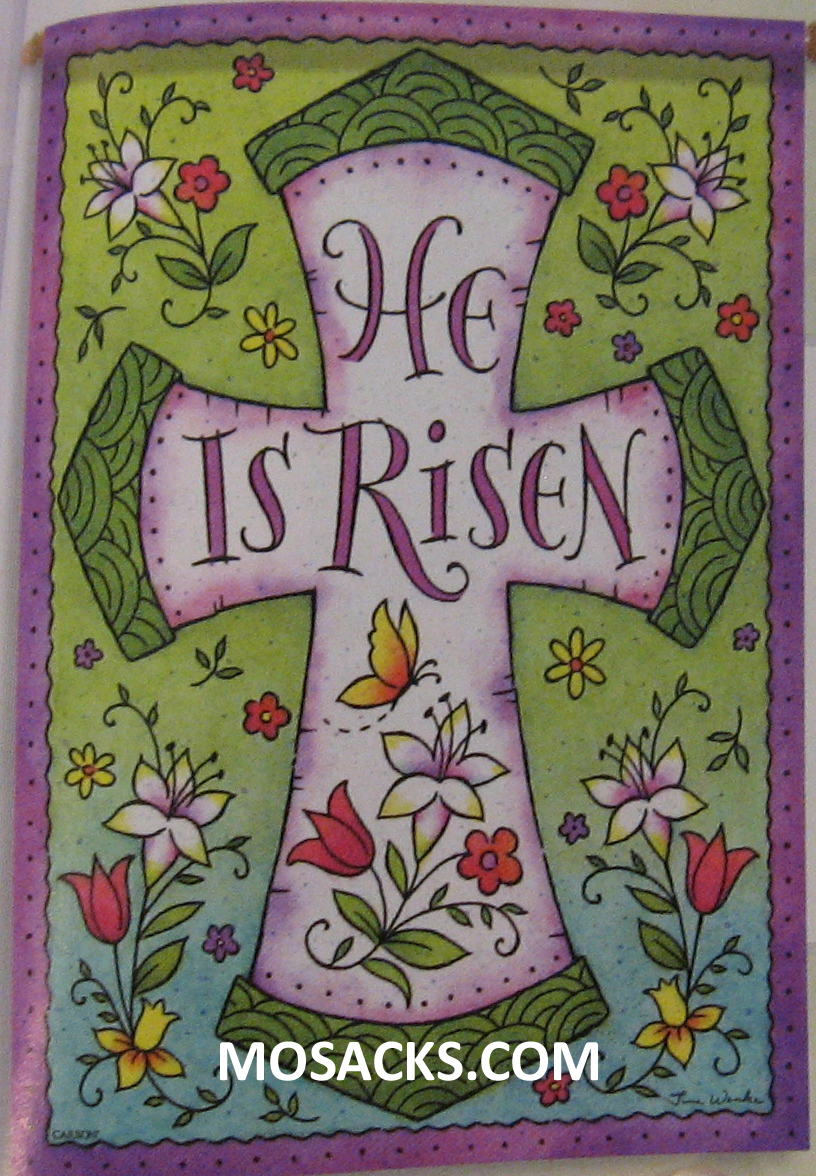Flagtrends Risen Cross 13x18 Inch Double Sided Garden Flag 480-45919