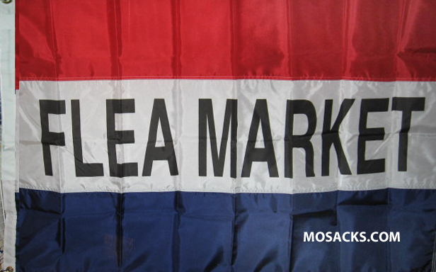 FLEA MARKET 3' x 5' Nylon Message Flag, #120027