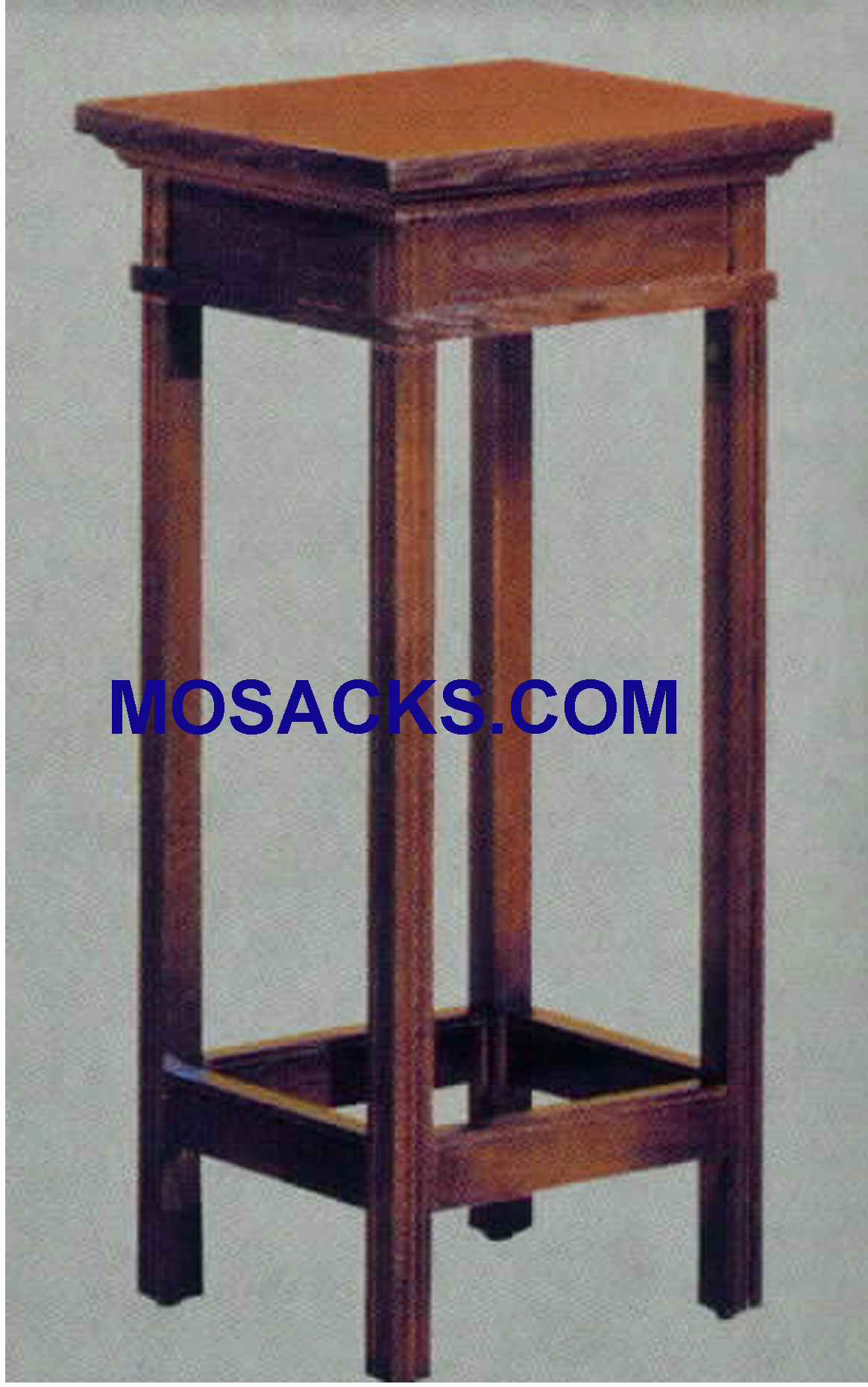 "Church Wood Flower Stand  14"" w x 14"" d 30"" h 132"