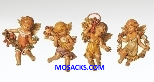 "Fontanini 110th Anniversary 4 Piece Set 4.75"" Four Season Cherubs-58454"