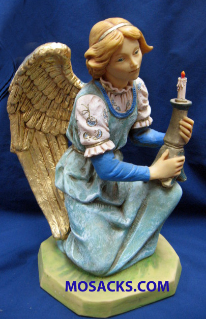 "Fontanini Nativity 20"" Collection Kneeling Blue Angel #53428 RETIRED"