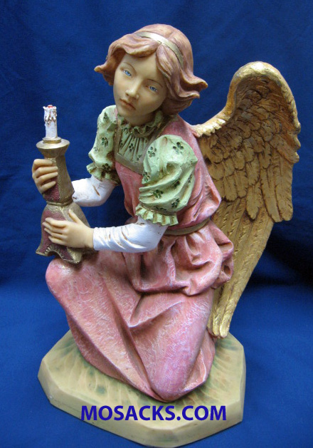 "Fontanini Nativity 20""  Collection Kneeling Pink Angel #53418 RETIRED"