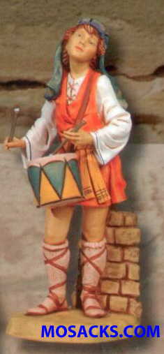 "Fontanini 27"" Masterpiece Nativity Collection Jareth the Drummer Boy  #53101"