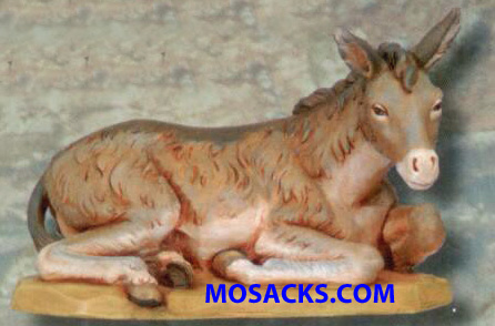 "Fontanini 27"" Masterpiece Nativity Collection Seated Donkey #53133"