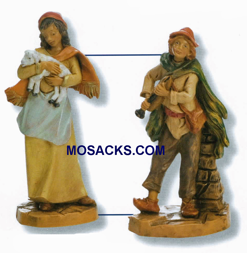 "Fontanini  Nativity 3.5"" Joan And Daniel 2 Piece Set-55037 RETIRED"